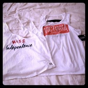 2 Victoria's secret athletic tank tops NWT (M/L)